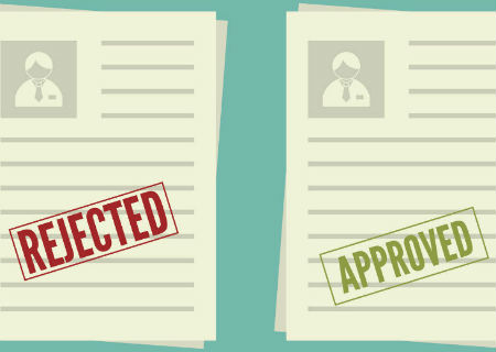 Rejected and approved claims letters