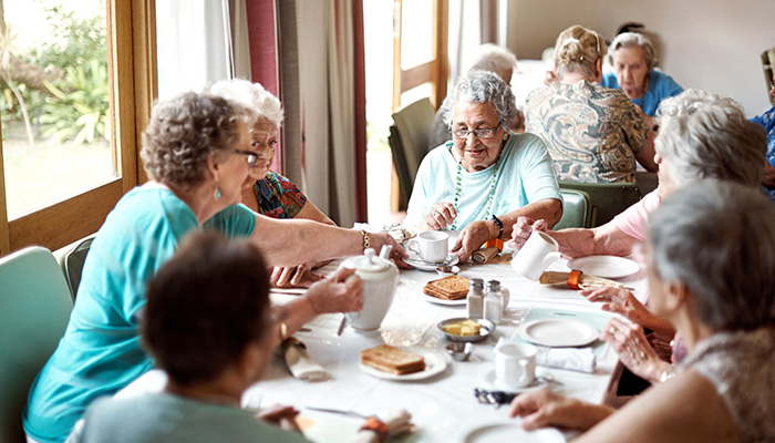 Group of women in a care home