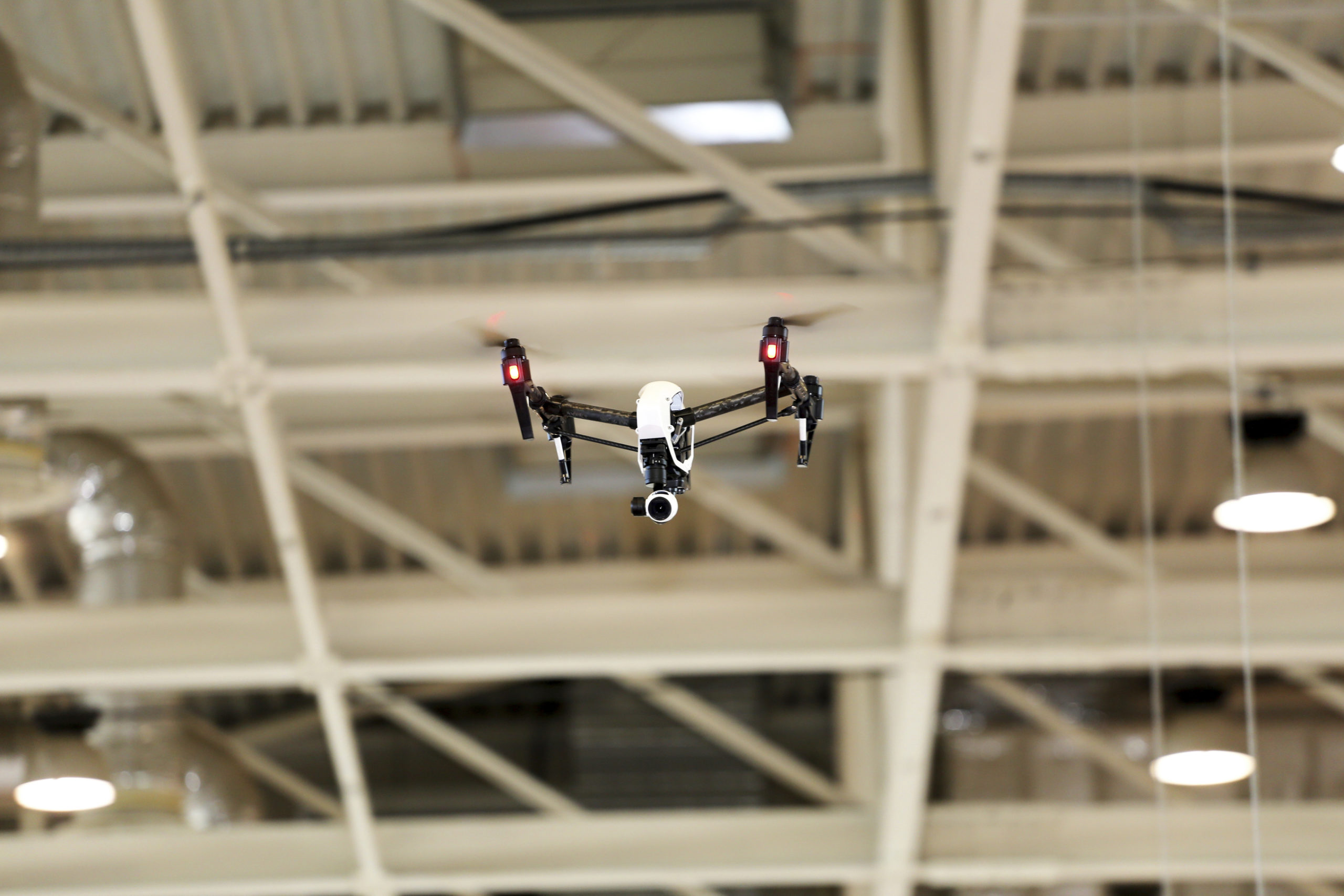 Drone in operation to reflect manufacturing insurance in Northumberland and Newcastle
